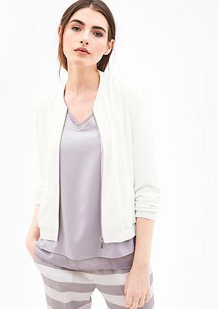 Eleganter Blouson aus Crêpe