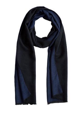 Eleganter Schal in Bicolor-Optik