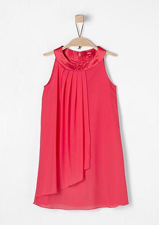 Elegantna mrežasta obleka z okrasnimi kamenčki
