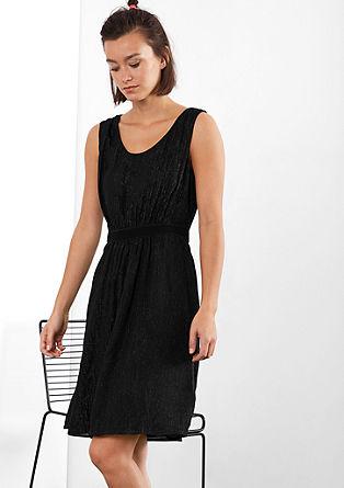 Elegantna obleka iz šifona s svetlečim učinkom