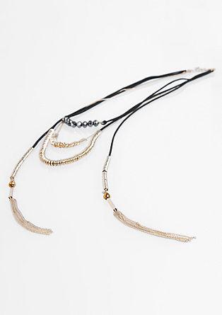 Elegantna ogrlica s steklenimi kamenčki