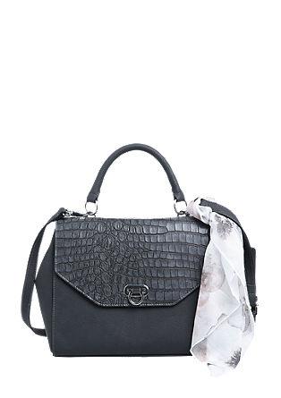 Elegantna večja torba z okrasno ruto