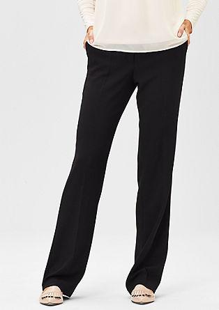 Elegantní krepové kalhoty s puky