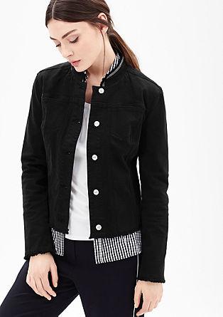Embellished short jacket in a denim look from s.Oliver