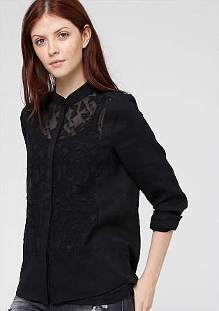 Embroidered blouse in a mix of fabrics from s.Oliver