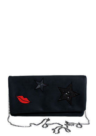 Embroidered clutch with a chain from s.Oliver