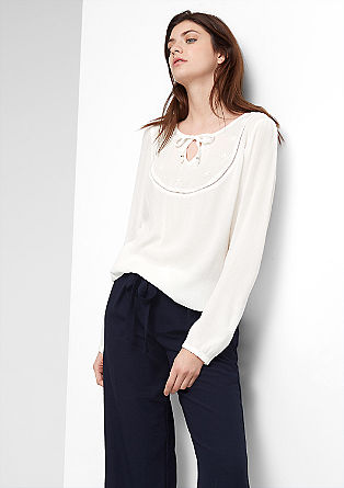 Embroidered crêpe tunic from s.Oliver