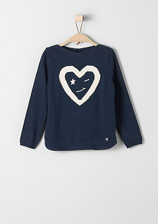 Embroidered knitted jumper from s.Oliver