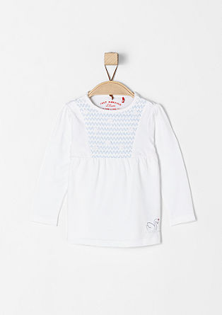 Embroidered long sleeve top with flowers from s.Oliver