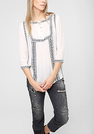 Embroidered tunic blouse from s.Oliver
