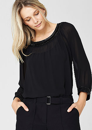 Embroidered tunic with a strappy top from s.Oliver