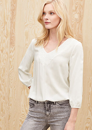 Embroidered viscose blouse from s.Oliver