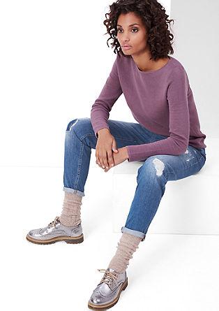Enkellange girlfriend fit: jeans met slijtageplekken