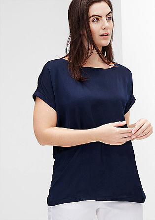 Enobarvna bluzna majica