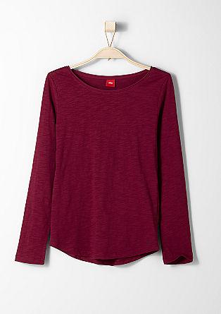 Enobarvna majica iz plamenaste preje