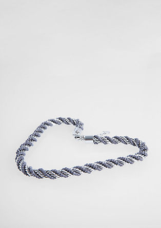 Entwined chain with glass beads from s.Oliver