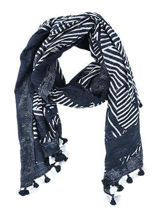 Ethno-Schal mit Quasten