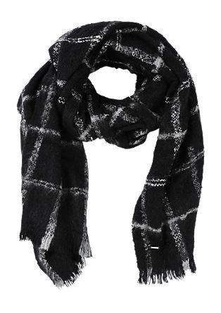 Extra grote sjaal met een geweven motief