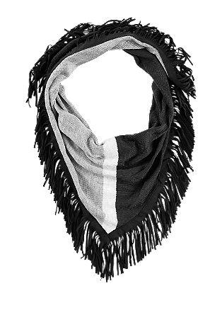 Extra grote sjaal met franjes