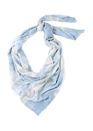 Extra grote sjaal met gerafelde ruiten