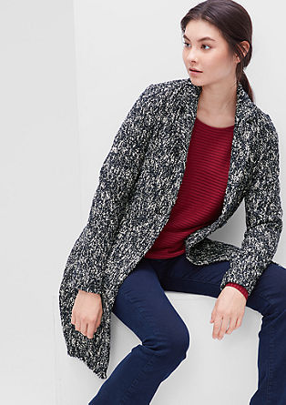 Extra long bouclé blazer from s.Oliver