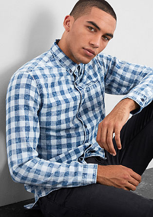 Extra Slim: bleached check shirt from s.Oliver