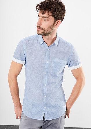 Extra Slim: Blended linen shirt from s.Oliver