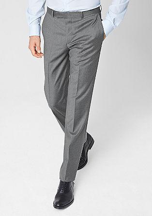 Extra slim: broek van scheerwol