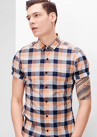 Extra Slim: check shirt from s.Oliver