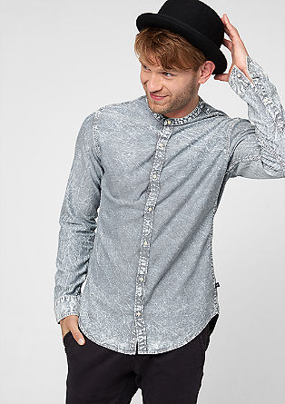Extra Slim: creased effect shirt from s.Oliver
