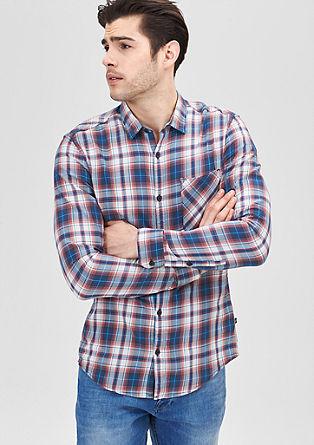 Extra Slim: Farbig kariertes Hemd