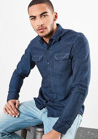 Extra Slim: Fischgrat-Hemd