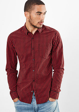 Extra Slim: gingham long sleeve shirt  from s.Oliver