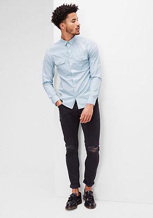 Extra Slim: Hellblaues Hemd