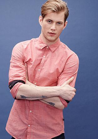 Extra Slim: Hemd aus Chambray