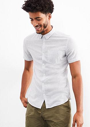 Extra Slim: Hemd aus Leinen-Mix
