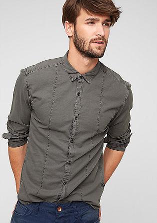 Extra Slim: Hemd aus Piqué