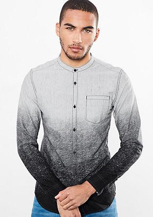 Extra Slim: Hemd in Dip Dye-Optik