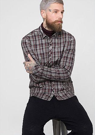Extra Slim: Hemd mit Dirt-Effekt