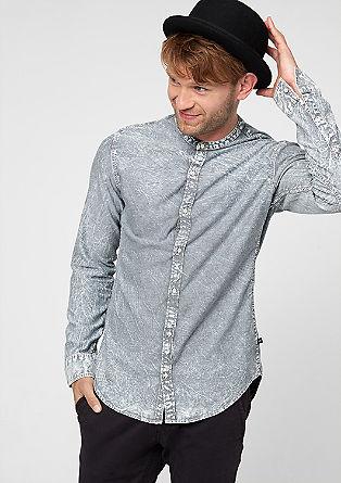Extra Slim: Hemd mit Falten-Effekt