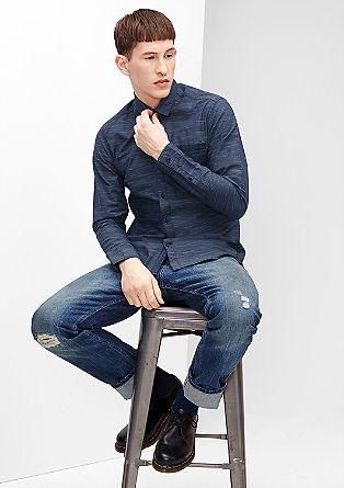Extra Slim: Hemd mit feinen Streifen