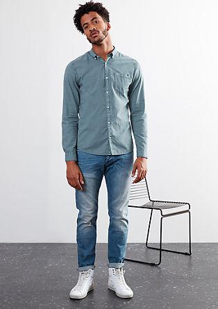 Extra Slim: Hemd mit Karo-Struktur