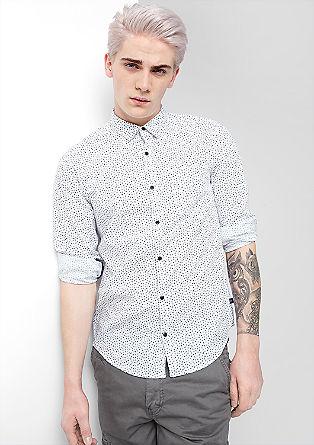 Extra Slim: Hemd mit Minimal-Muster