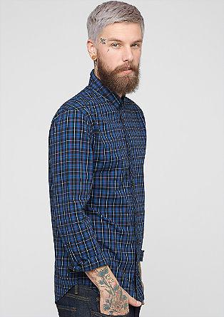 Extra Slim: Kariertes Hemd