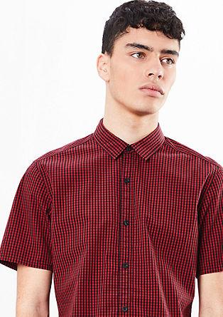 Extra Slim: Kariertes Kurzarmhemd