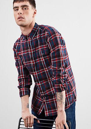 Extra Slim: karirasta bombažna srajca