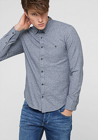 Extra Slim: mottled shirt from s.Oliver