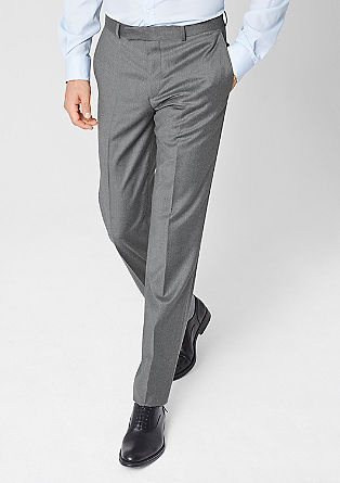 Extra slim: new wool trousers from s.Oliver