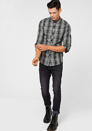Extra slim: overhemd met dessin