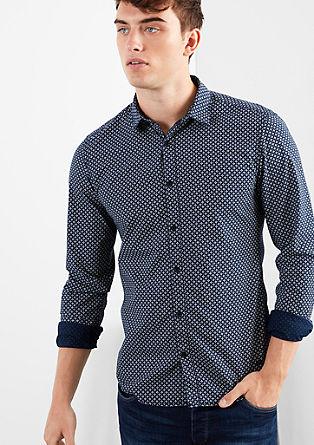 Extra slim: overhemd met een klein motiefje